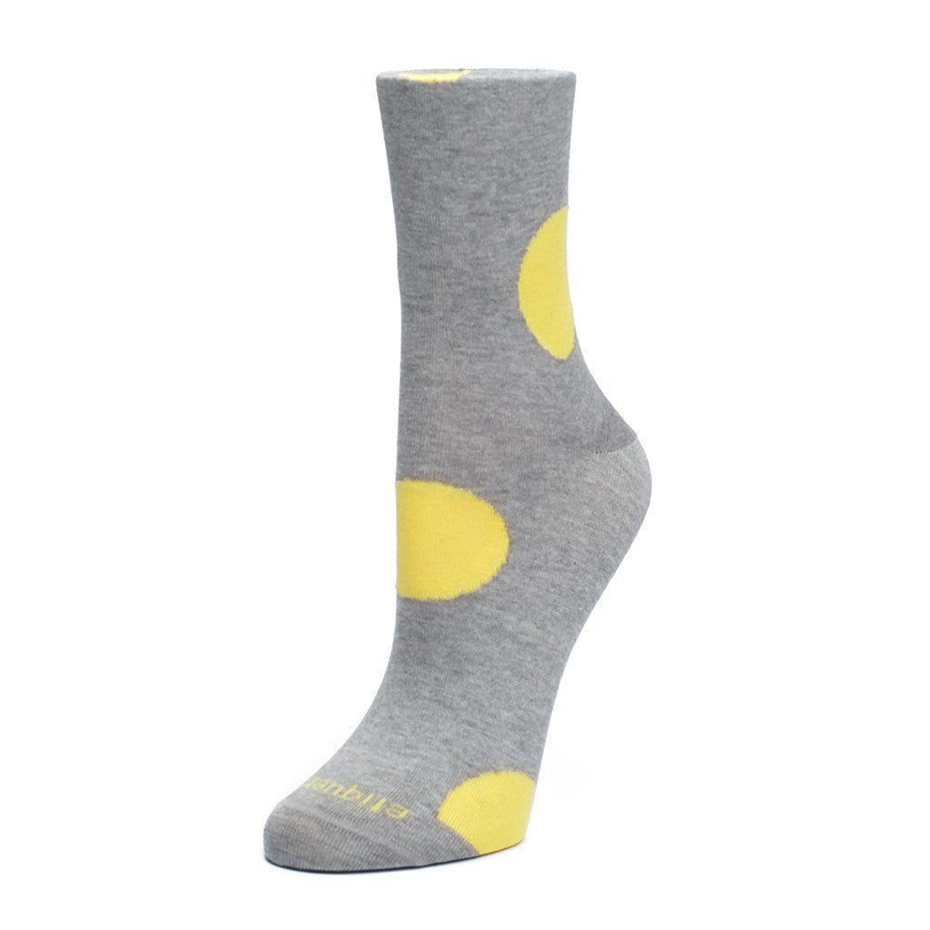 Big Dot - Grey / Yellow - Socks - Etiquette - Etiquette Clothiers NA
