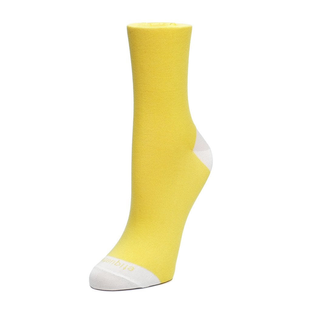 Duo Pops - Yellow / Ecru - Socks - Etiquette - Etiquette Clothiers NA