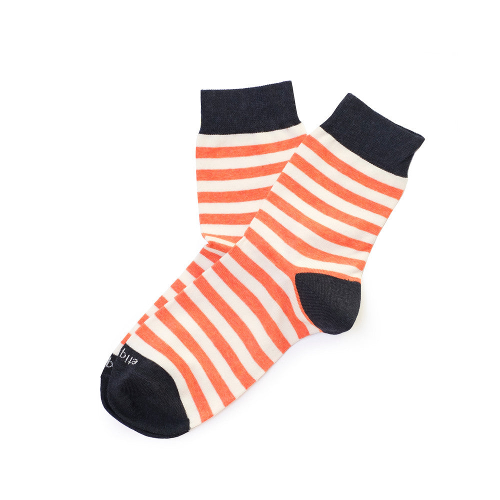 Abbey Stripes - Mango - Socks - EtiquetteSale - Etiquette Clothiers NA