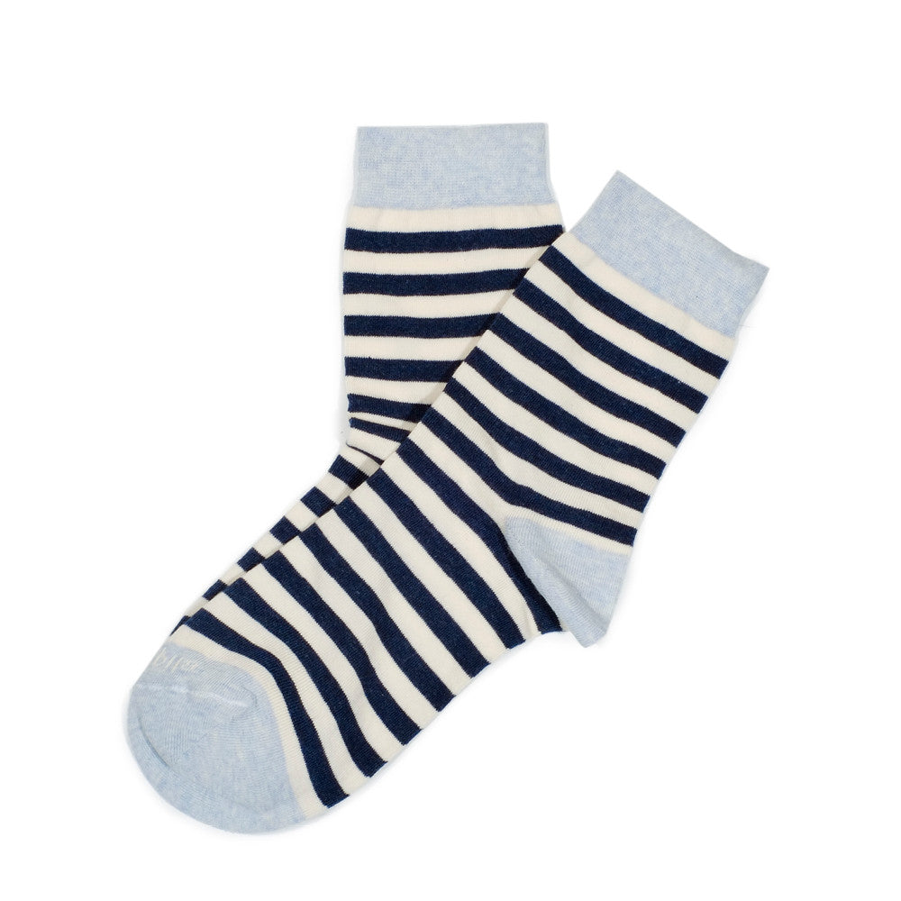 Abbey Stripes - Vintage Blue Heather - Socks - Etiquette - Etiquette Clothiers NA