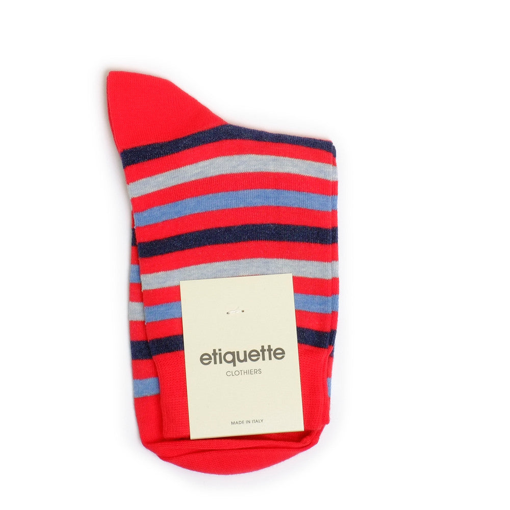 Crosswalk - Fire Red - Socks - EtiquetteSale - Etiquette Clothiers NA
