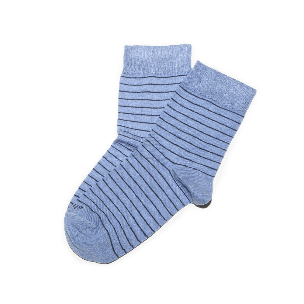 Needle Stripes - Everest Blue - Socks - EtiquetteSale - Etiquette Clothiers NA