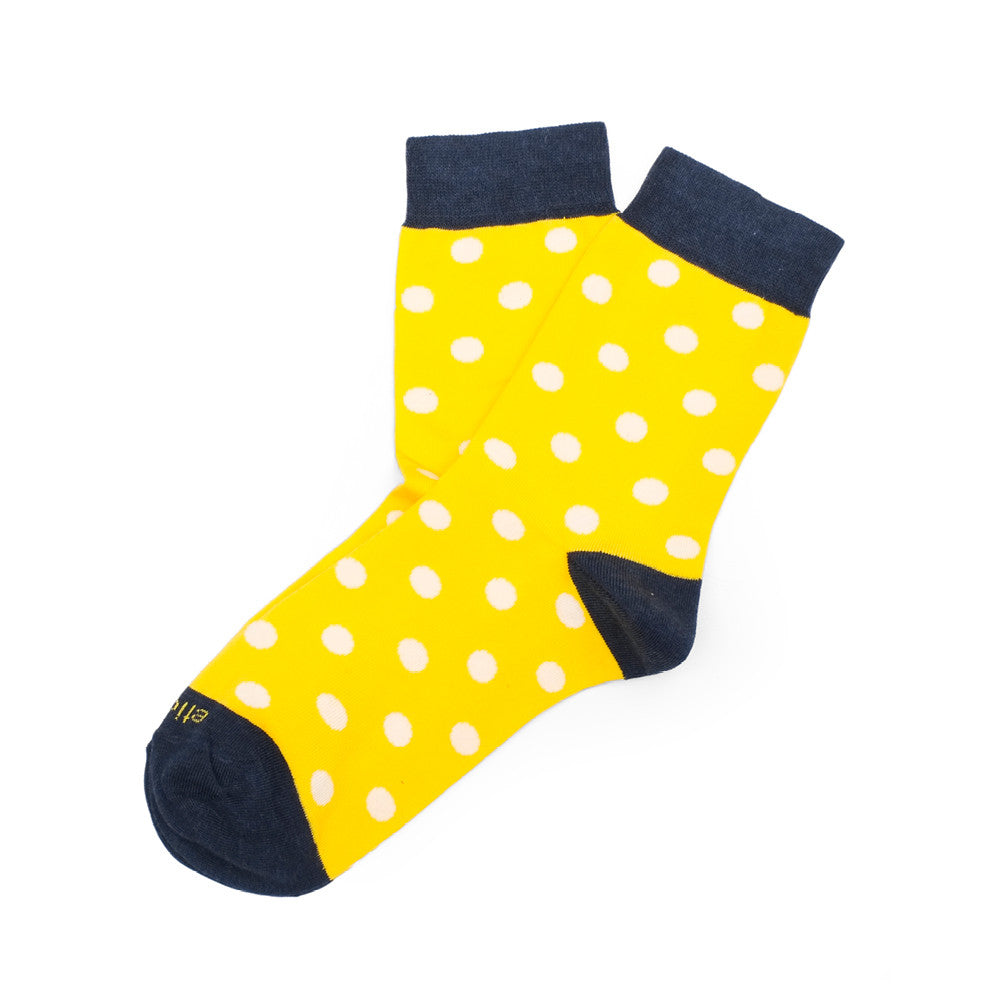 Polka Dots - Empire Yellow - Socks - Etiquette - Etiquette Clothiers NA