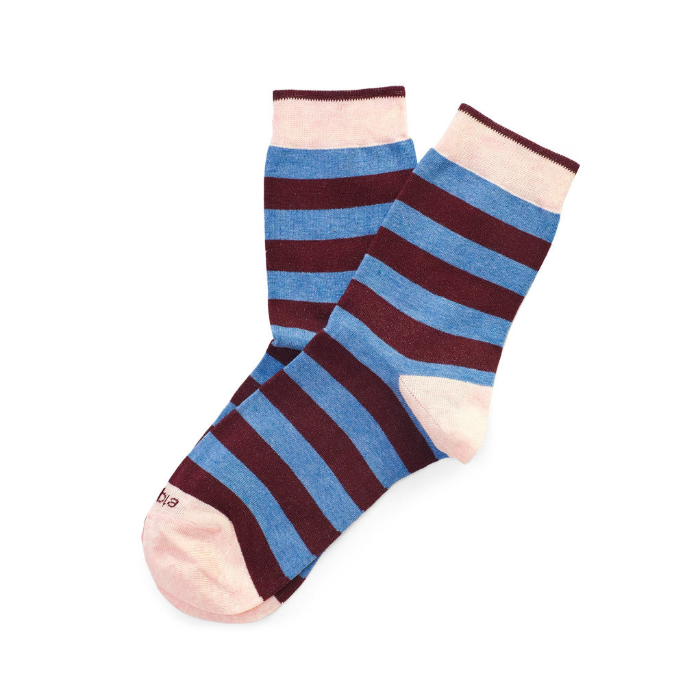 Rugby Stripes - Everest Heather - Socks - EtiquetteSale - Etiquette Clothiers NA