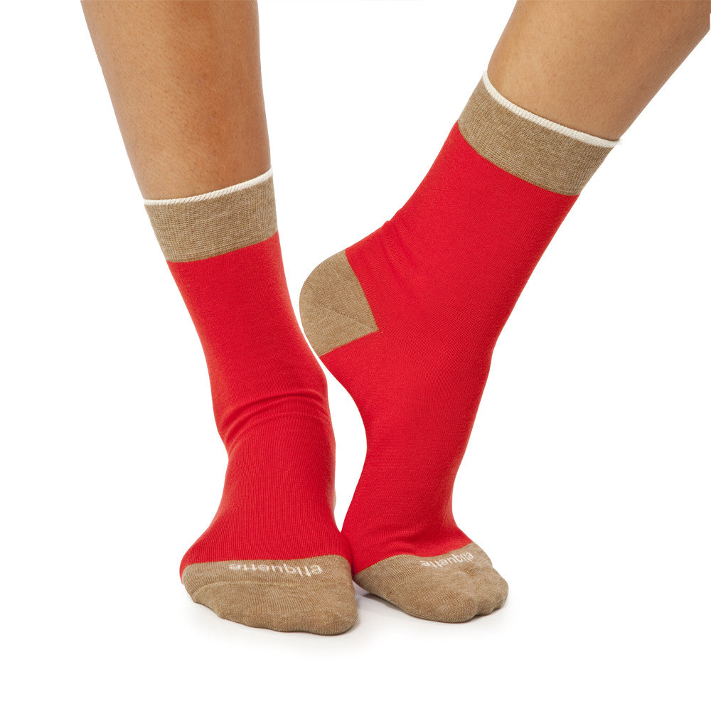 Tri Pop - Fire Red - Socks - Etiquette - Etiquette Clothiers NA