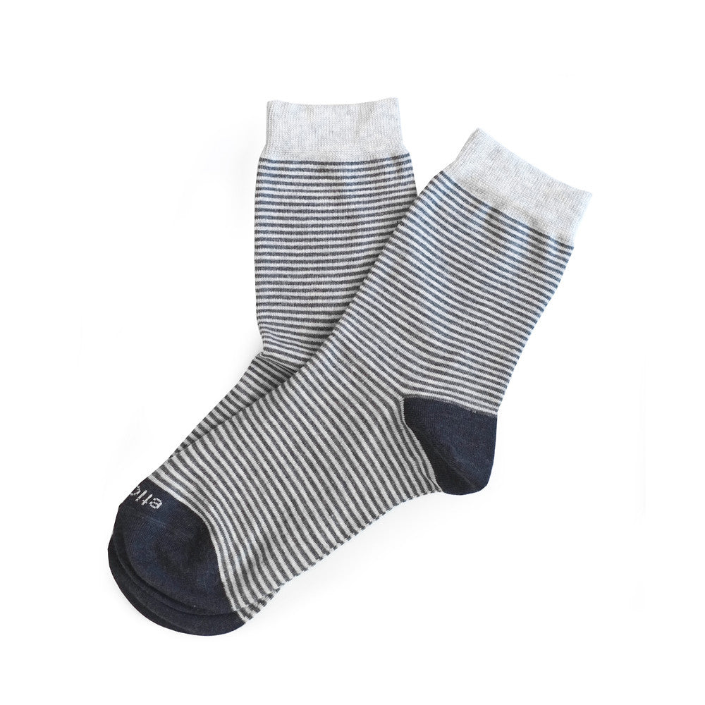 Thousand Stripes - Grey Heather - Socks - Etiquette - Etiquette Clothiers NA