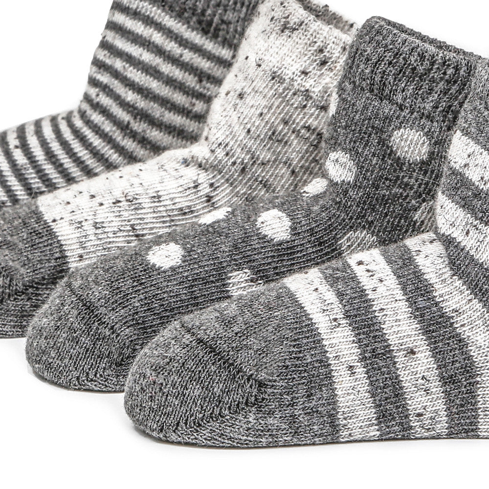 Etiquette X Barneys - Heather Grey and Nope Yarn - Baby Socks - Etiquette - Etiquette Clothiers NA
