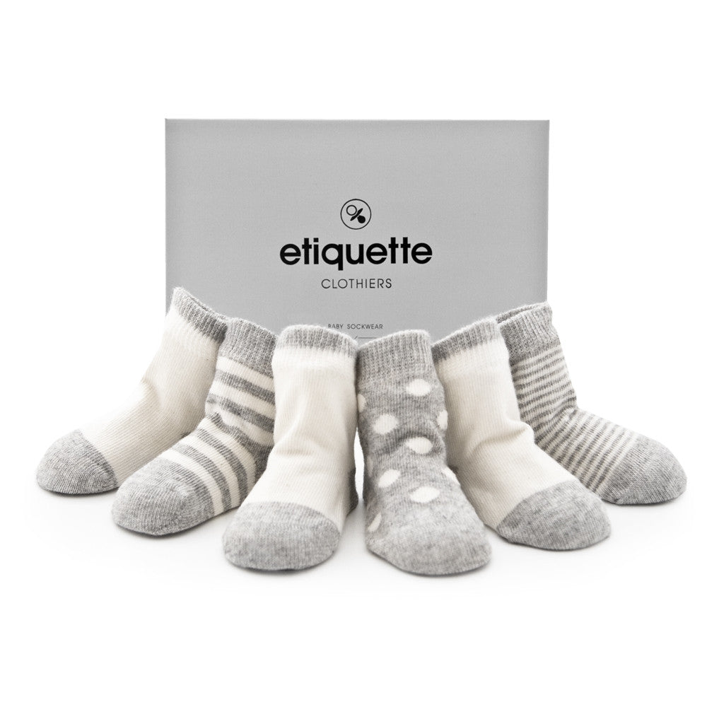 Cashmere - Heather Grey - Baby Socks - Etiquette - Etiquette Clothiers NA