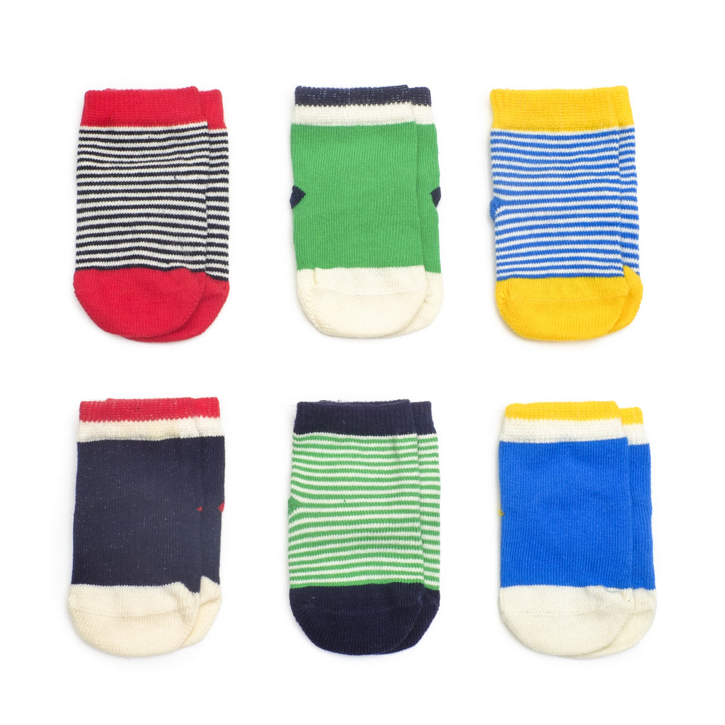 Happy Sailor Boy - Multi - Baby Socks - Etiquette - Etiquette Clothiers NA