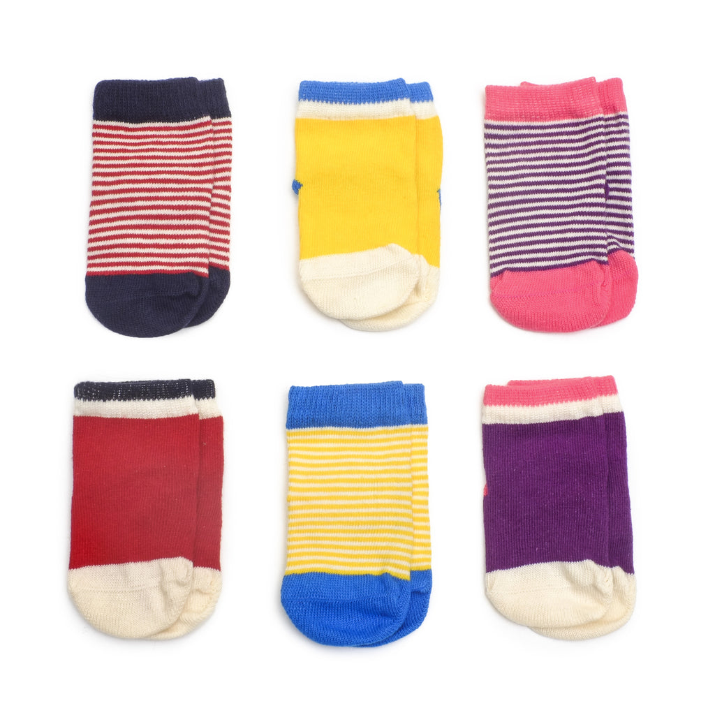 Happy Sailor Girl - Multi - Baby Socks - Etiquette - Etiquette Clothiers NA