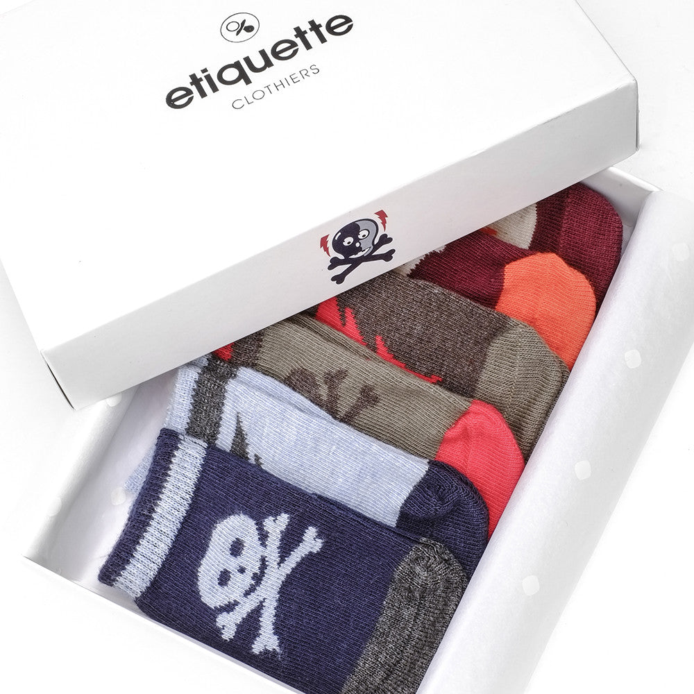 Super Villains Boy - Multi - Baby Socks - Etiquette - Etiquette Clothiers NA