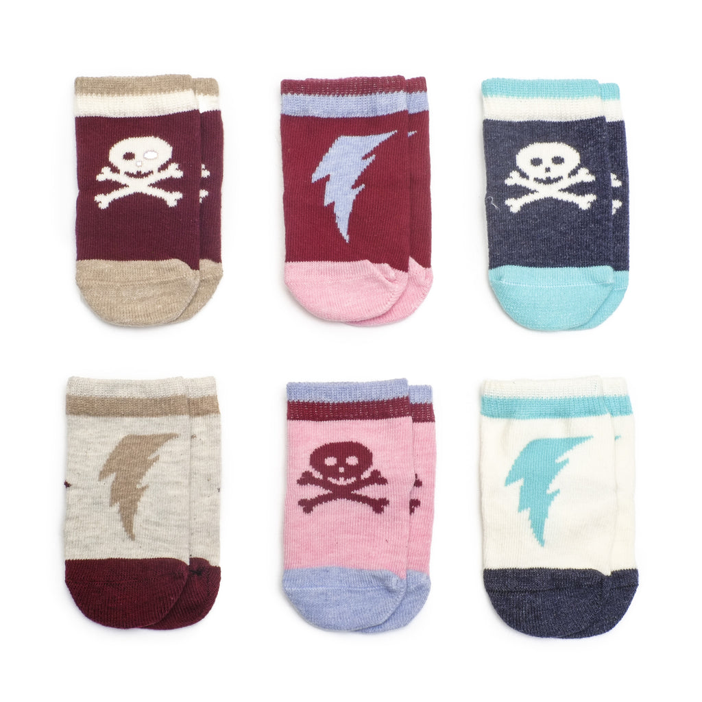Super Villains Girl - Multi - Baby Socks - Etiquette - Etiquette Clothiers NA