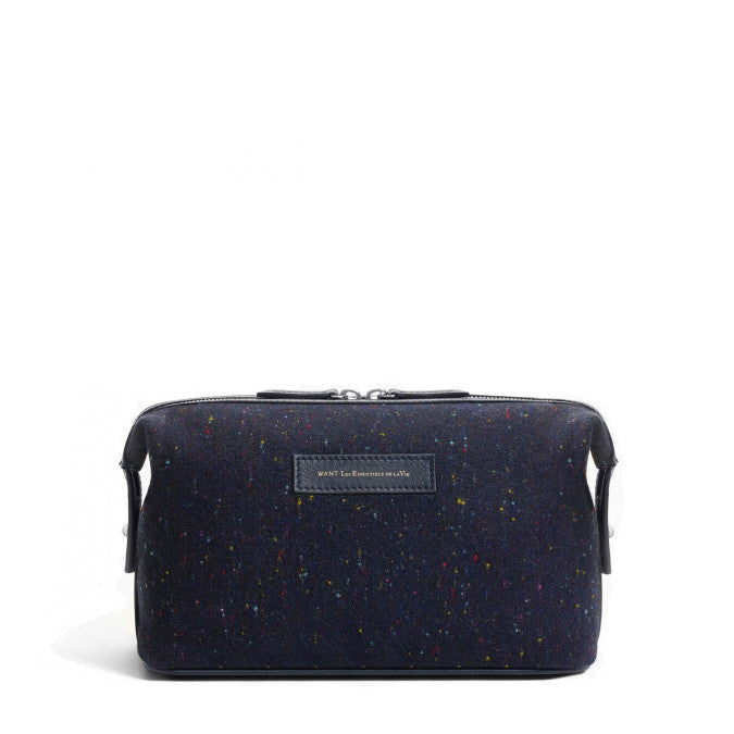 Kenyatta Dopp Kit Speckled/Navy - Want Les Essentiels de la Vie -  - Etiquette - Etiquette Clothiers NA