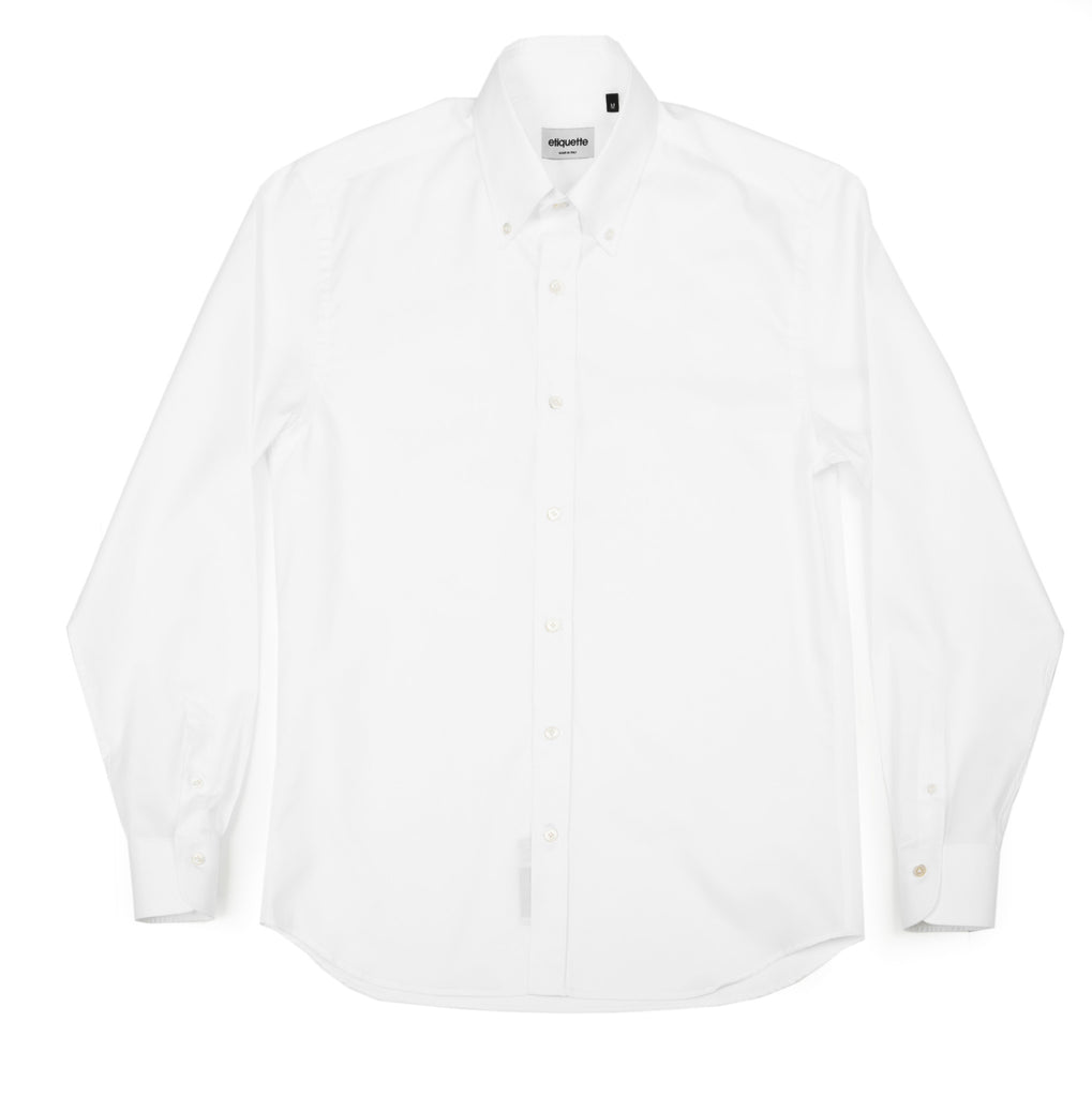 Franklin Button Down Shirt - White Oxford - Shirts - Etiquette - Etiquette Clothiers NA
