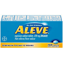 Aleve Pain Reliever/Fever Reducer, 220mg Naproxen Sodium (150-Count Capsule Shaped Caplets)
