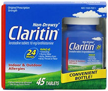 Claritin Allergy Non-Drowsy, Indoor & Outdoor, 24 Hour Tablets, 10mg (45-Count Tablets)