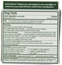 Dulcolax Laxative Tablets, Overnight Relief, Bisacodyl USP 5mg, 100 Count