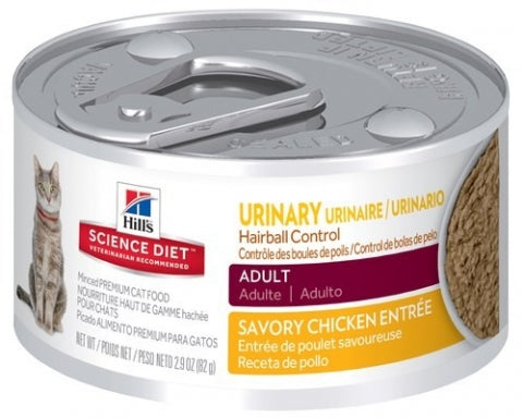 Science Diet Feline Urinary Hairball 82Gx24