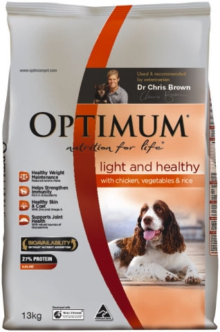 Optimum Dog Light and Healthy Chicken and Rice