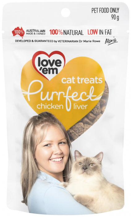 LOVE EM PURRFECT CHICKEN TREATS