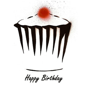 "Cupcake 14x14cm Greetings Card ""Blank Inside"" - On the Wall Art Print Posters & Gifts"
