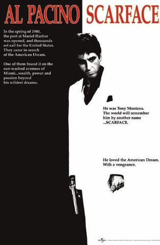 Scarface One sheet Regular Poster (61x91.5cm) - On the Wall Art Print Posters & Gifts