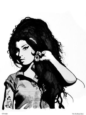 Amy Winehouse Portrait Art Print Poster by Becky Mann (OTW0060) - On the Wall Art Print Posters & Gifts