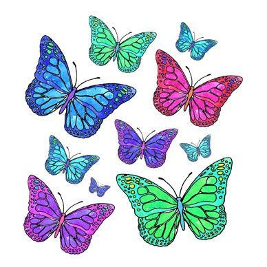 Butterflies Greetings Card 14x14cm (blank inside) - On the Wall Art Print Posters & Gifts