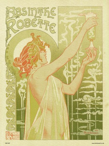 Art nouveau Poster Art Print by Privat Livemont - Absinthe Robette (PDP 007) - On the Wall Art Print Posters & Gifts