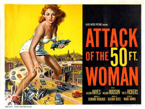 Attack of the 50ft Woman Movie Poster Art Print 40x30cm (MSP0010) - On the Wall Art Print Posters & Gifts