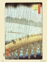 Load image into Gallery viewer, Hiroshige Japanese Sudden Shower over Shin - Ohashi Bridge and atake Poster Art Print (PDP 50) - On the Wall Art Print Posters & Gifts