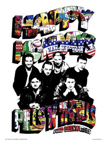 Happy Mondays Pills N Thrills Pop Art Print Poster by Wig (OTW43) - On the Wall Art Print Posters & Gifts
