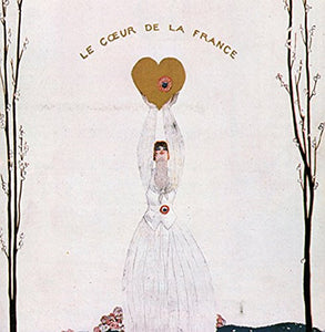 "Vogue Love France 14x14cm Greetings Card ""Blank Inside"" - On the Wall Art Print Posters & Gifts"