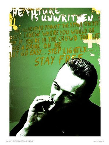 Joe Strummer from The Clash Pop Art Print Poster By Wig (OTW055) - On the Wall Art Print Posters & Gifts