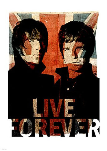 Oasis live forever 70x50cm Art Print - On the Wall Art Print Posters & Gifts