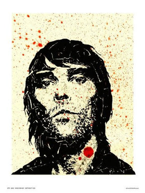 Ian Brown from Stone Roses Pop Art Print Poster by WIG (OTW052) - On the Wall Art Print Posters & Gifts