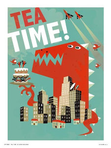 Pop art Poster Print - Tea Time by Chris Dickason (OTW067) - On the Wall Art Print Posters & Gifts