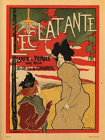 Art nouveau Poster Art Print l'eclatante - On the Wall Art Print Posters & Gifts