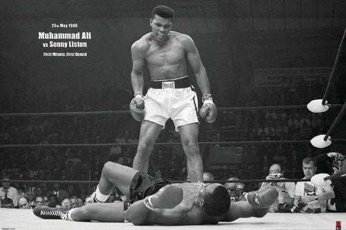 Muhamnad Ali liston Regular Poster (61x91.5cm) - On the Wall Art Print Posters & Gifts