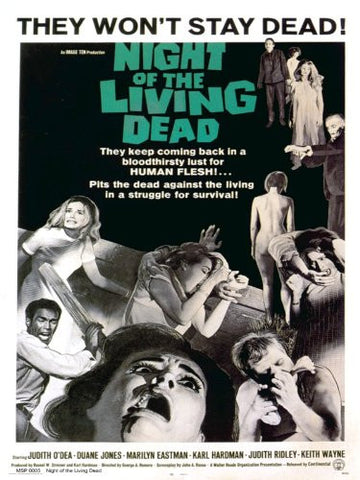 Night of the Living Dead Movie Poster Art Print 40x30cm (MSP0005) - On the Wall Art Print Posters & Gifts