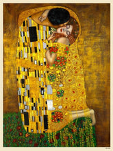 Load image into Gallery viewer, Gustav Klimt The Kiss Art nouveau Poster Art Print 40x30cm (PDP 009) - On the Wall Art Print Posters & Gifts
