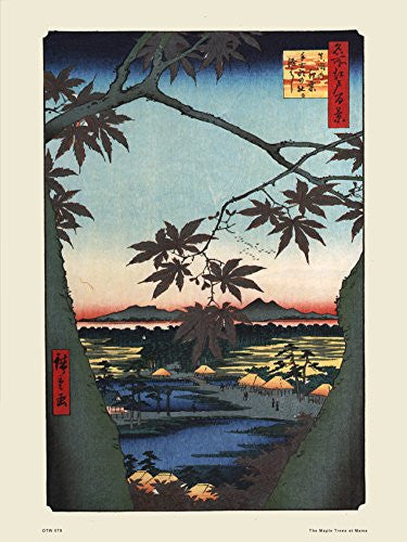 Hiroshige Japanese Poster Art Print The Maple Treesat - On the Wall Art Print Posters & Gifts