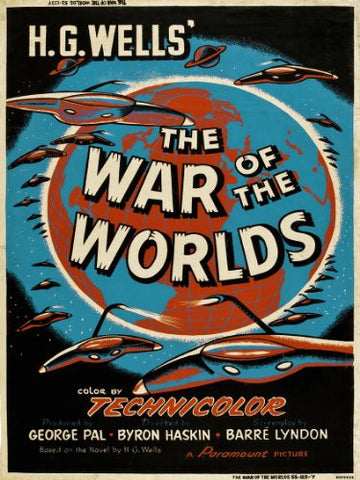 War of the worlds HG wells Movie Poster Art Print (MSP34) - On the Wall Art Print Posters & Gifts