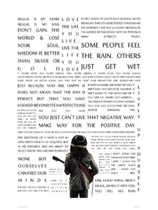 "Bob Marley ""The Message"" in Quotes Poster Art Print (OTW0051) - On the Wall Art Print Posters & Gifts"