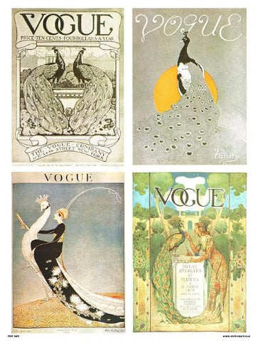 Vogue Vintage Covers Pop Art Poster Print Multi Birds (PDP 025) - On the Wall Art Print Posters & Gifts