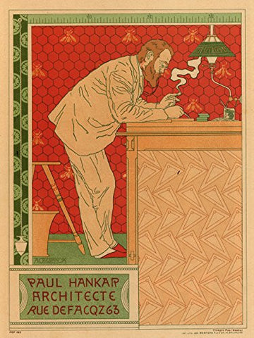 Art nouveau Poster Art Print by Crespin Paul Hankar - On the Wall Art Print Posters & Gifts