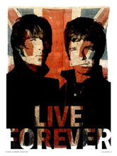 Load image into Gallery viewer, Oasis Liam and Noel Live forever Art Print Poster by Wig (OTW50) - On the Wall Art Print Posters & Gifts