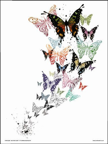 Butterflies by Simon Heathcote Art Print Poster (OTW028) - On the Wall Art Print Posters & Gifts
