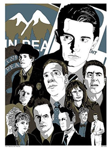 Twin Peaks Poster Art Print By John Pearson (MSP 0049) - On the Wall Art Print Posters & Gifts