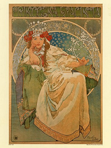 Art nouveau Poster Art Print by Alphonse Mucha Hyacinta - On the Wall Art Print Posters & Gifts